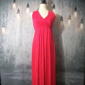 Pure Hype Red Maxi Dress Size Medium
